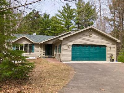 Minocqua Single Family Home For Sale: 7563 Trailwood Dr