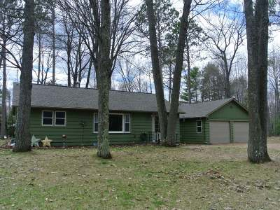 Three Lakes WI Single Family Home Active Under Contract: $139,500