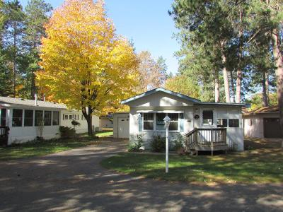 Minocqua Single Family Home For Sale: 11070 Bellwood Dr #75