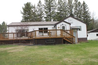 Tomahawk Single Family Home For Sale: N11462 Tomahawk River Rd