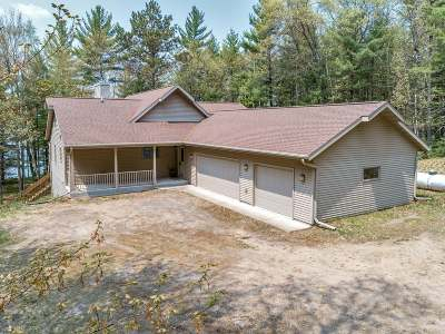 Langlade County, Forest County, Oneida County Single Family Home Active Under Contract: 5730 Eagles Bluff Rd
