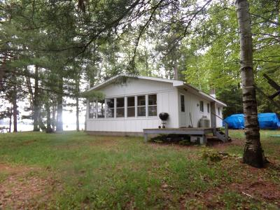 Langlade County, Forest County, Oneida County Single Family Home For Sale: 8860 Squaw Lake Rd W