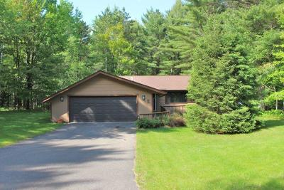 Minocqua Single Family Home Active Under Contract: 7567 Trailwood Dr