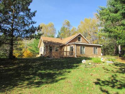 Forest County, Iron Wi County, Langlade County, Lincoln County, Oneida County, Vilas County Single Family Home For Sale: 5870 Cedar Falls Rd