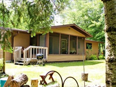 Forest County, Iron Wi County, Langlade County, Lincoln County, Oneida County, Vilas County Single Family Home For Sale: 1840w Clear Lake Rd
