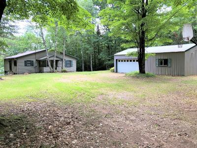 Forest County, Iron Wi County, Langlade County, Lincoln County, Oneida County, Vilas County Single Family Home For Sale: 2711 S Manuel Lk Rd