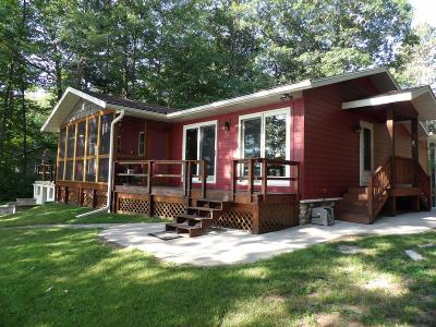 Langlade County, Forest County, Oneida County Single Family Home For Sale: 4176 Moen Lake Rd