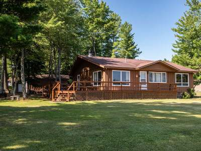 Three Lakes WI Single Family Home Active Under Contract: $249,900