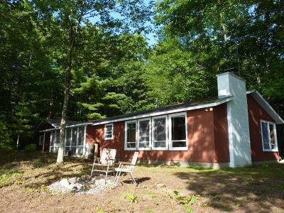 Lac Du Flambeau Single Family Home For Sale: 2411 Ross Allen Lake Ln E