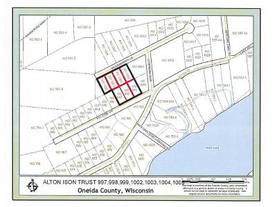 Rhinelander Residential Lots & Land For Sale: On Mars Meadow Rd #7 Lots