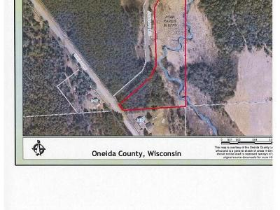 Rhinelander Residential Lots & Land For Sale: On Ryan Rapids Bluff