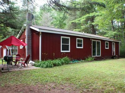 Lac Du Flambeau Single Family Home For Sale: 1900 Fence Lake Rd E