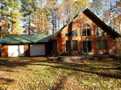 Sawyer County Single Family Home For Sale: 6962n Blueberry Lake Road