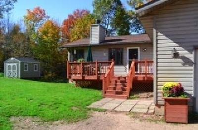 Chetek Single Family Home For Sale: N1125 Public Landing Road