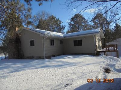 Trego WI Single Family Home For Sale: $159,900