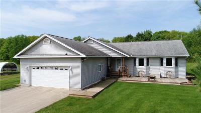 Jackson County, Clark County, Trempealeau County, Buffalo County, Monroe County, Chippewa County, Eau Claire County Single Family Home For Sale: S1090 Tower Road