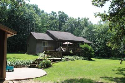 Eau Claire Single Family Home For Sale: W2865 County Road Z