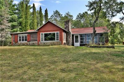 Minong Single Family Home For Sale: W6751 Old Bass Lake Road