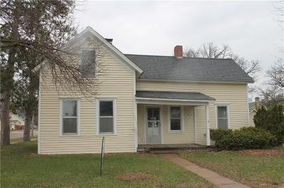 Osseo WI Single Family Home For Sale: $60,000