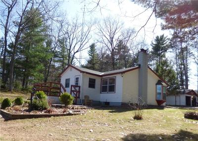 Couderay WI Single Family Home Active Under Contract: $259,900