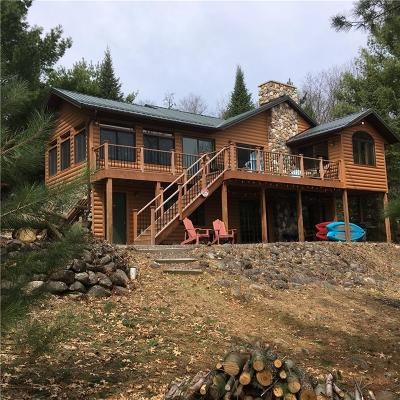Minong Single Family Home Active Under Contract: W8124 Bear Track Road