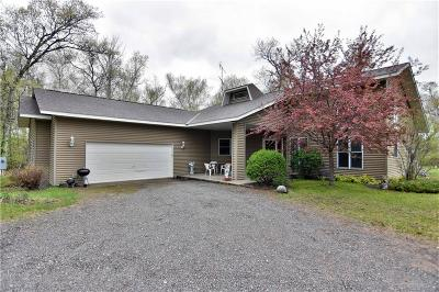 Minong Single Family Home For Sale: W6550 Old Bass Lake Rd.