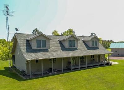 Single Family Home For Sale: W3977 Highway 63