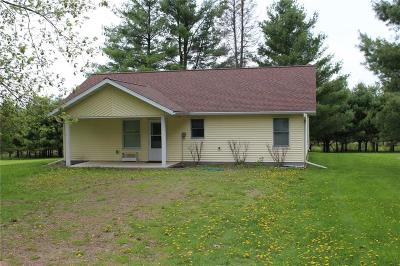 Jackson County, Clark County Single Family Home For Sale: W3426 Poertner Road