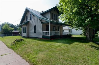 Rice Lake WI Single Family Home For Sale: $108,900