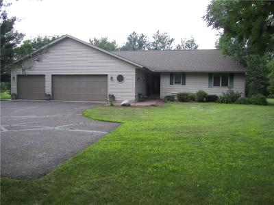 Chippewa Falls Single Family Home For Sale: 10750 County Highway X
