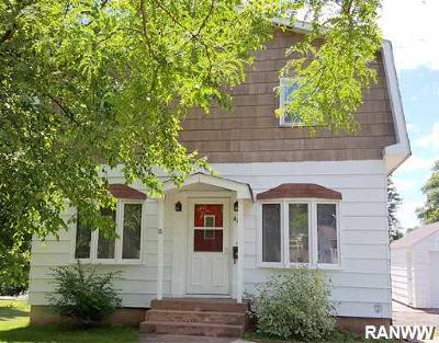 Ladysmith WI Single Family Home For Sale: $96,500