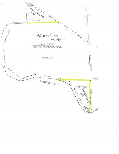 Marinette County Residential Lots & Land Active-No Offer: W8529 Hwy A