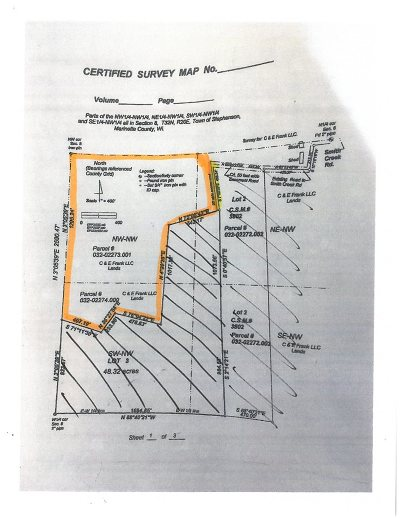 Marinette County Residential Lots & Land Active-No Offer: Smith Creek