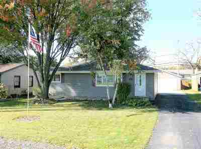 Menasha Single Family Home For Sale: 1132 Oneida