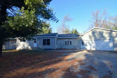Shawano Single Family Home For Sale: W4992 Lulu Lake