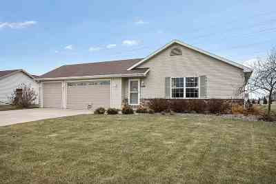 Appleton Single Family Home For Sale: W5348 Mile Long