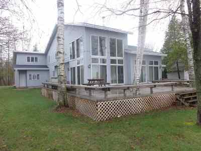 Shawano County Single Family Home Active-No Offer: N6100 Cattau Beach