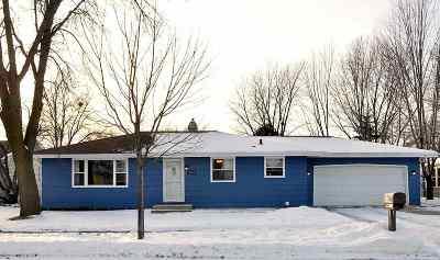 Menasha Single Family Home Active-No Offer: 1228 Depere