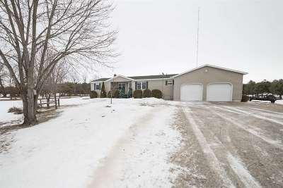 Marinette Single Family Home For Sale: N2162 Keller