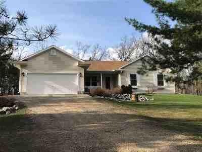 Shawano Single Family Home Active-Offer No Bump: W5854 N Oak Park