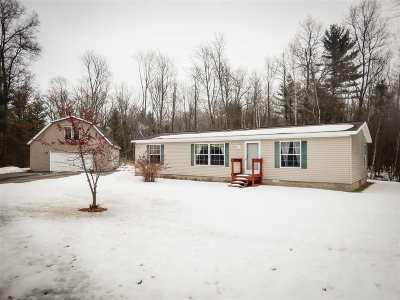 Marinette Single Family Home For Sale: W1755 Kamine