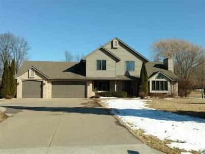 Appleton Single Family Home For Sale: N192 Sunset