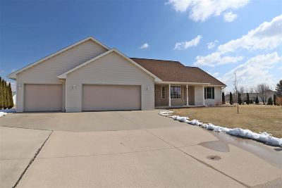 Appleton Single Family Home For Sale: W5406 Colin