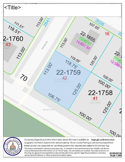 Green Bay Residential Lots & Land Active-No Offer: Baywatch