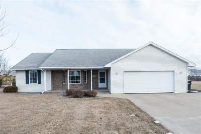 Appleton Single Family Home For Sale: W5446 Colin
