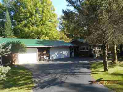 Suring Single Family Home Active-No Offer: 12620 Waupee River