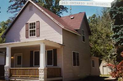 Oconto Single Family Home Active-No Offer: 263 Ontario