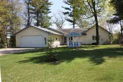 Shawano County Single Family Home Active-Offer W/Bump-Show: W8091 Long Lake
