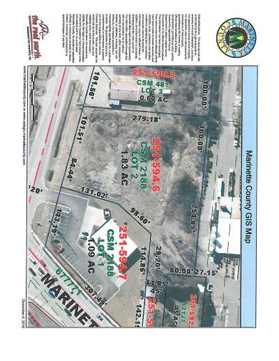 Marinette County Residential Lots & Land Active-No Offer: 3100 Cleveland
