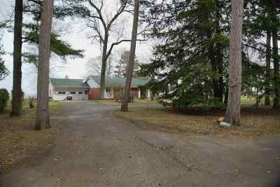 Marinette County Single Family Home Active-No Offer: W431 Oakwood Beach